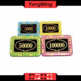 Rechteckige/Schürhaken-Chips der Anti-Fälschenden Kristallkasino-Chips für das engagierte Kasino, das Gamesmodel Ym - Cp002 spielt