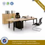 Mobília de escritório da melamina da tabela executiva do escritório do pé do metal com gabinete (NS-NW144)