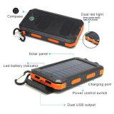 防水10000mAh太陽Powerbank二重USBの移動式充電器の外部電池