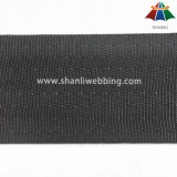 tessitura nera della cintura di sicurezza del poliestere di 4cm