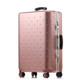 Oro determinado de Rose de la maleta de la carretilla del bolso ABS+PC del recorrido del equipaje de Magllu