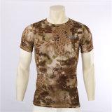 4colors夏の大蛇のカムフラージュの速乾燥のTシャツの人