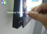 벽 커튼 전시를 광고하는 메뉴 널을%s 황급한 알루미늄 프레임 LED 가벼운 상자 표시
