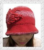 Dame Fashion Crochet Weave Beanie Hoed met Rand (1-3405)