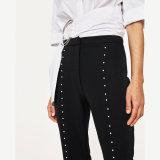 Dame-FormBell-Bottomsaufgeteilte bördelnde Hosen