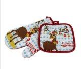 Первоначально перчатки выпечки безопасности хлопка напечатанные рождеством Unti-Горячие