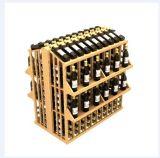 Antique разливает коммерчески стойку по бутылкам индикации шкафа вина для пользы индикации
