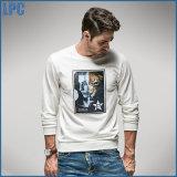 Longue impression de T-shirt d'hommes de chemise de mode blanche de loisirs