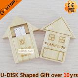 Милый деревянный привод вспышки USB дома для подарков (YT-8134)
