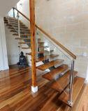Eichen-Treppen-Schritt-gerade Treppenhaus-Installationssätze anpassen