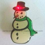 2017年のクリスマスのギフトはLED印刷されるロゴのバッジをつける(3569)