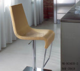 Silla atractiva popular de la barra del cuero de la pierna del acero inoxidable del eslabón giratorio (NK-DCA039-1)