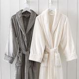 Cero de la torcedura 100% algodón súper suave Albornoz para Ladier 3 colores, L, XL para el otoño y la temporada de invierno