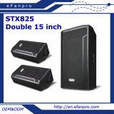 Fußboden-Monitor-Audiostadiums-Lautsprecher-Lautsprecher des Doppelt-15 '' angeschaltener (STX825)