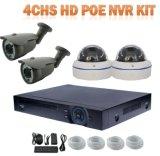 Kit de la marca de fábrica 4chs 1.0megapixels Poe NVR de Toesee incluyendo cámara al aire libre del IP del CCTV 4
