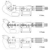7개의 플루트를 가진 5-25mmx0.01mm V 모루 마이크로미터
