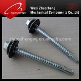 Verzinkter DIN7504k Selbstbohrende Schrauben mit Gummiunterlegscheibe