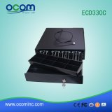 Caixa preta da gaveta do dinheiro do metal da gaveta do dinheiro para o anúncio publicitário (ECD330C)