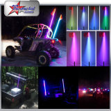 ATV UTV Interior del coche LED Látigo LED, control remoto 4 pies de largo LED Flexible Pole Light Antena Luz LED Dancing Whip Light