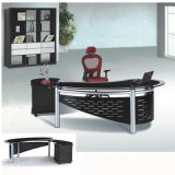Glass Top Exeuctive Office Table Metal Office Furniture (NS-ND033)