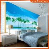 Картина маслом фотоего пляжа и кокоса лета красивейшая для комнаты малышей