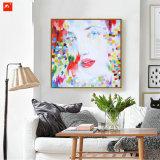 El realismo decorativo Retrato femenino pintura al óleo con marco