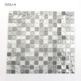 Mattonelle di mosaico grige di cristallo di Backsplash del nero della stanza da bagno