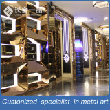 Portello interno d'acciaio brillante dorato di Fatactry Manufactre per KTV Culb