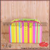 Caixa de presente dada forma do cartão mala de viagem elegante com punho carreg