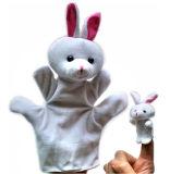 プラシ天動物指のパペットおもちゃ