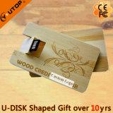 Cartão giratório de madeira USB Flash Drive como presente de móveis (YT-3132)