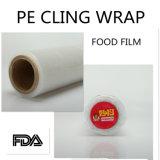 Il PE di plastica aderisce pellicola per l'involucro dell'alimento per i commerci all'ingrosso