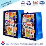 Bolsas de papel de encargo de Kraft de la alta calidad para la Navidad