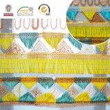 Ткань шнурка Embroidry картины Trangle цветастая, способ Polyster материальный и красивейшее C10041