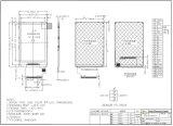 """2.4 """" étalage de TFT LCD de 40*320 MCU 8bit, IC : Ili9341V, FPC 28pin pour la position, sonnette, médicale, véhicules"""