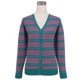Yacs Gn1438 y suéter hecho punto mezclado lanas para las mujeres