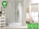 Cerco da porta do chuveiro, 2016 vidros quentes da listra da venda um cerco do chuveiro do pivô da parte, tela de chuveiro