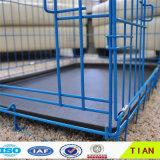 Jaula de acero plegable ampliamente utilizada del almacenaje