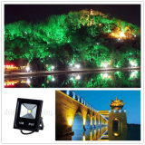 o projector IP67 Rgbwpc impermeável da iluminação ao ar livre da lâmpada de parede AC85-265V do diodo emissor de luz 10W colore a luz do parque