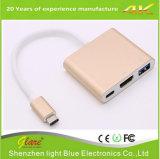 USB 3.1 C Type vers HDMI + USB 3.0 + Type C Adaptateur Hub
