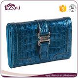 Бумажника кожи крокодиловой кожи Manufactore фабрики повелительница Портмоне типа краткости цвета большого голубая