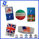 Cristallo UV della resina - contrassegni coperti con una cupola resina libera del poliuretano con il marchio su ordinazione