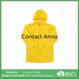 Impermeabile giallo di colore di alta qualità per i bambini