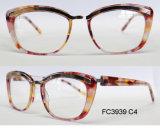 Bâti optique d'acétate de bonne qualité pour Madame avec la lunetterie en métal (ce)