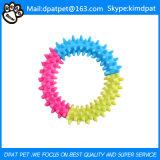Helle Ring-Hundespielwaren der Farben-TPR ungiftige