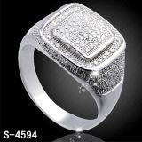 Anello d'imitazione dell'argento dei monili di disegno di qualità superiore