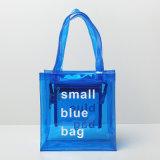 7 colores dos tallas impermeabilizan los bolsos unisex del bolso de la playa de la transparencia de la carta del PVC (A088)
