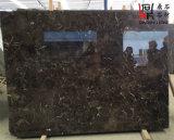 カウンタートップまたはホーム装飾のためのEmperadorの自然な石造りの安い中国の暗い大理石の平板
