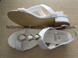 Weißes Women Sandals mit PU Upper, Lady Casual Shoes mit Good Quality und Competitive Prices