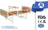 ABS Vorstand-Krankenhaus-Bett mit hölzerner Bett-Oberfläche